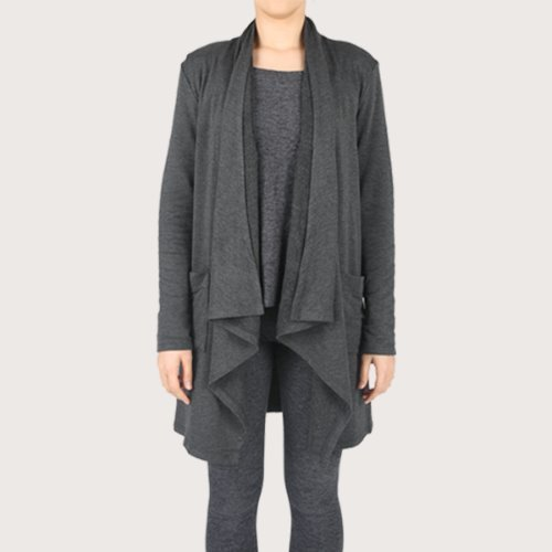 EVERYDAY DRAPE CAR_CHARCOAL HEATHER